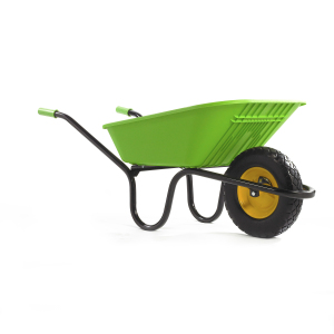 GO LIME GREEN Puncture Free Wheelbarrow