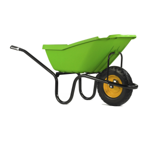 PICK-UP Green Puncture Free Wheelbarrow