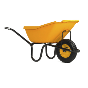 PICK-UP Yellow Puncture Free Wheelbarrow